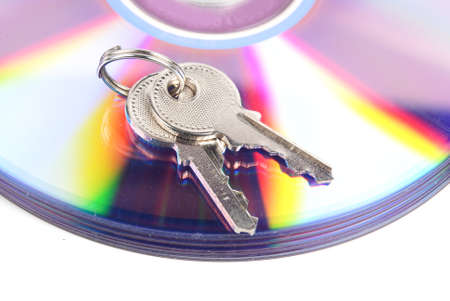 DVD and key Stock Photo - 13488711