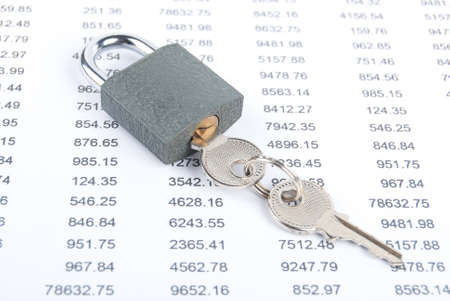 Lock and financial data