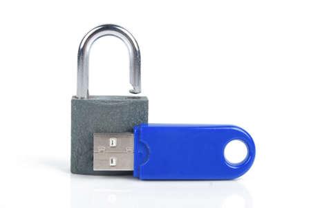 mmc: SD card and padlock