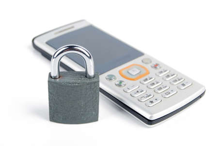 Mobilephone and padlock photo