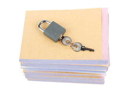Documents and padlock photo