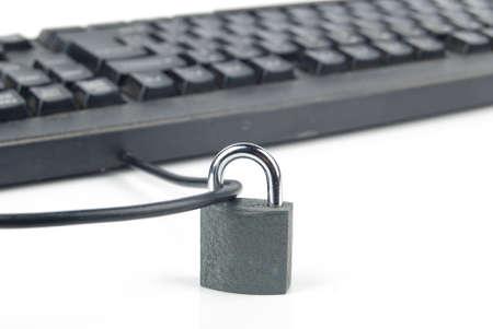 Computer keyboard and padlock photo