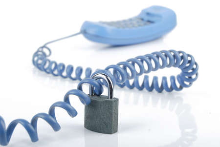 Telephone and padlock Stock Photo - 13481247