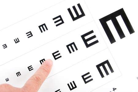 Eye chart photo