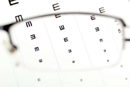 Eye chart and glasses photo