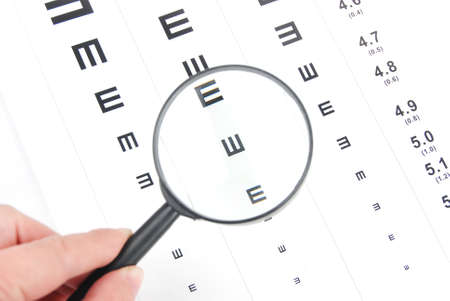 Eye chart and magnifier photo