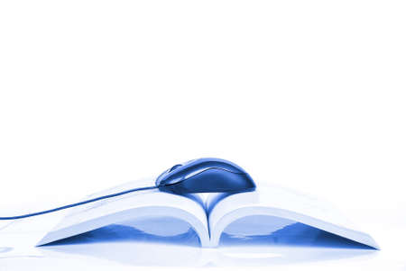 Computer mouse and book Stock Photo - 13518709