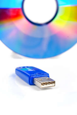 Flash disk with DVD photo