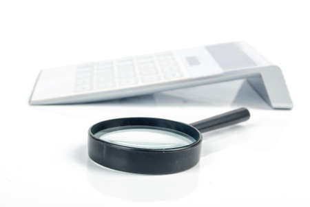 Magnifier with calculator photo