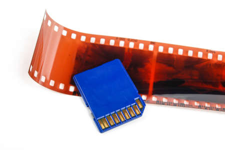 SD card with film photo