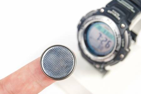 Lithium battery with digital watch photo