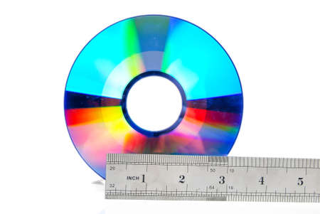 DVD and steel ruler Stock Photo - 13519714