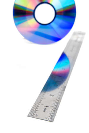 DVD and steel ruler photo