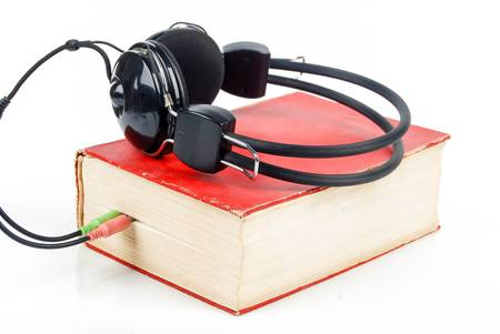 Dictionary and headphone photo