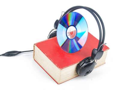 DVD,dictionary and headphone photo