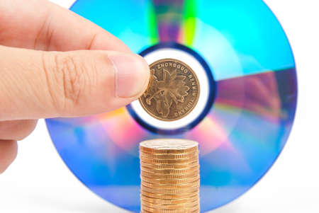 Coins with DVD photo