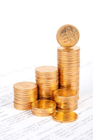 Coins on html page Stock Photo - 13561073