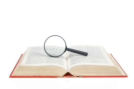 Magnifier and book photo