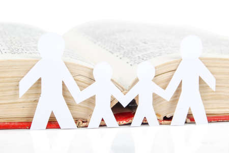 Paper men with book Stock Photo - 13560124