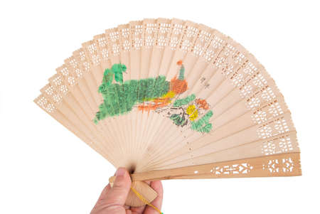 A chinese fan on white background photo
