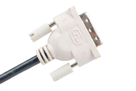 DVI cable on white background photo