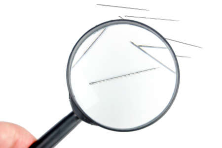 Magnifier with needle Stock Photo - 13580035