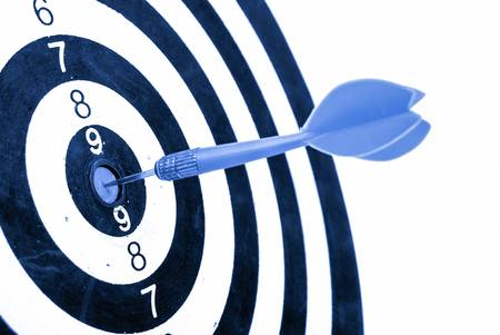 competitiveness: Target Stock Photo
