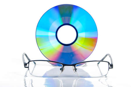 DVD with glasses Stock Photo - 13580263