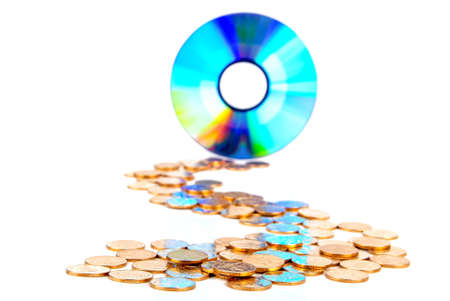 DVD with coins photo