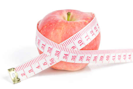 Apple and measuring tape Stock Photo - 13581547