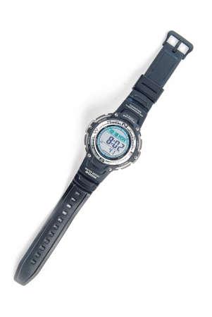 Digital watch on white background Stock Photo - 13580090