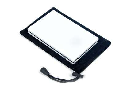 Mobile harddisk with pouch Stock Photo - 13657600