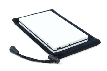 Mobile harddisk with pouch Stock Photo - 13657665