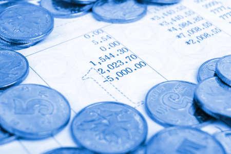 schein: Bankbook with coins