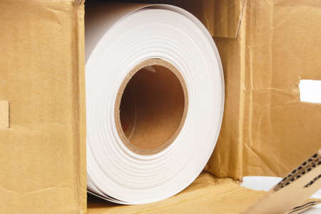 Roll paper in box photo
