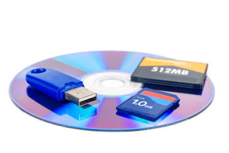 Flash cards with DVD photo