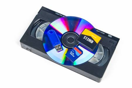 videocassette: Flash cards and DVD with videotape
