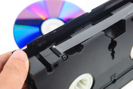 vhs videotape: DVD and videotape