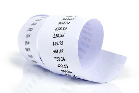 receipt: Receipt Stock Photo