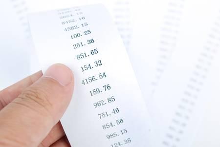 Financial data photo