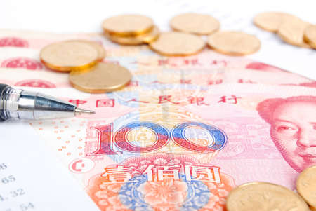 Financial data and currency Stock Photo - 13691367