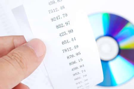 DVD with finance chart Stock Photo - 13690078