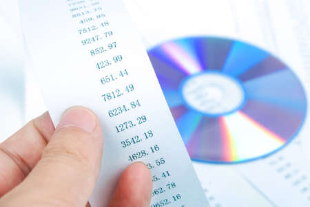 DVD with finance chart photo