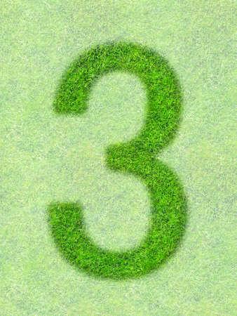 Grass letter photo