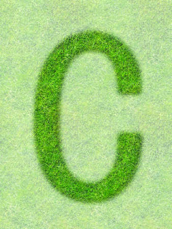 ecologist: Grass letter Stock Photo