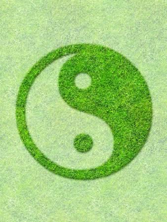 Grass symbol Stock Photo