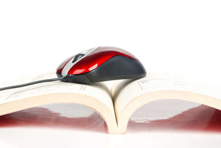 Computer mouse with book photo