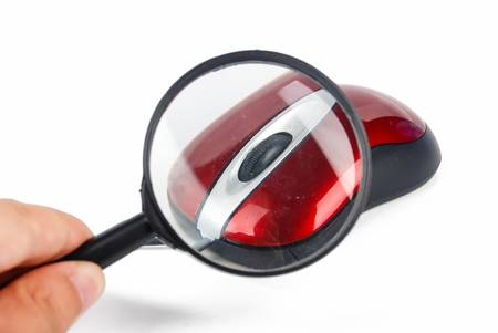 website wide window world write www: Magnifying glass with computer mouse