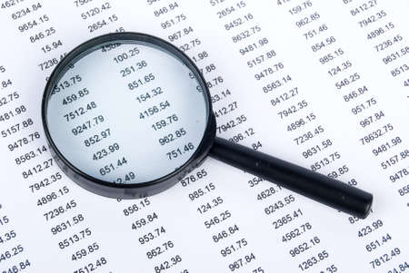 Magnifier and financial page photo