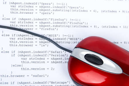 Computer mouse on html page photo
